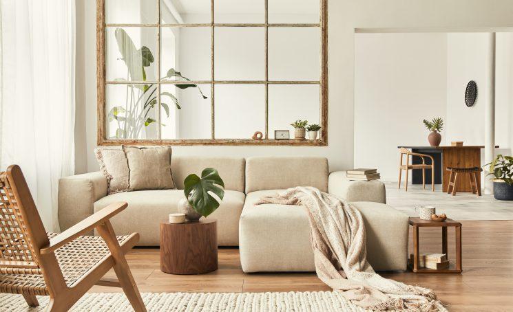 Modern,Interior,Of,Open,Space,With,Design,Modular,Sofa,,Furniture,